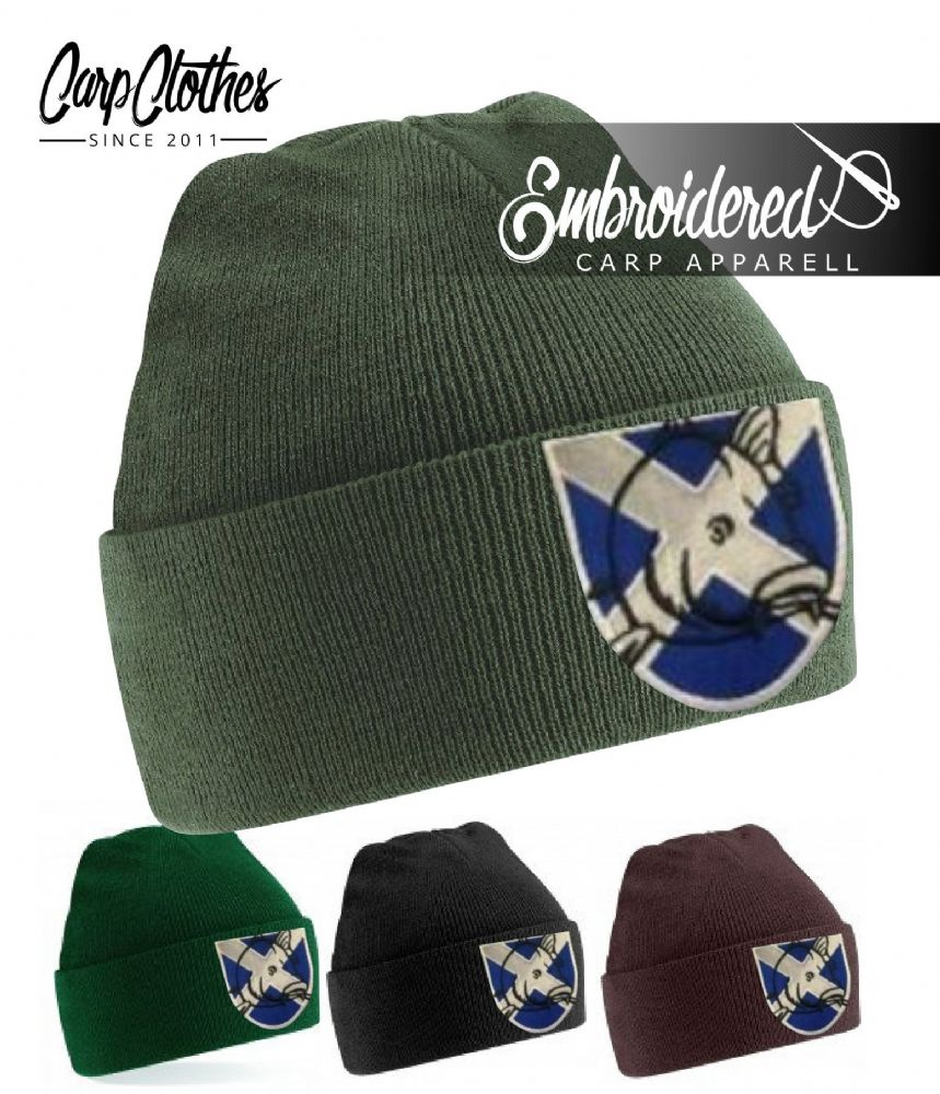 024 EMBROIDERED CARP BEANIE